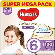 Huggies Extra Care Pants - Size 6, Super Mega Pack, 15-25 kg, 120 Diaper Pants