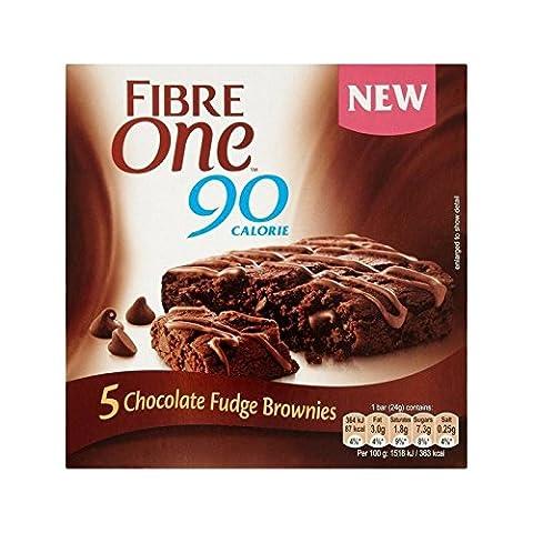 Faser Ein Chocolate Fudge Brownie 120G - Packung mit