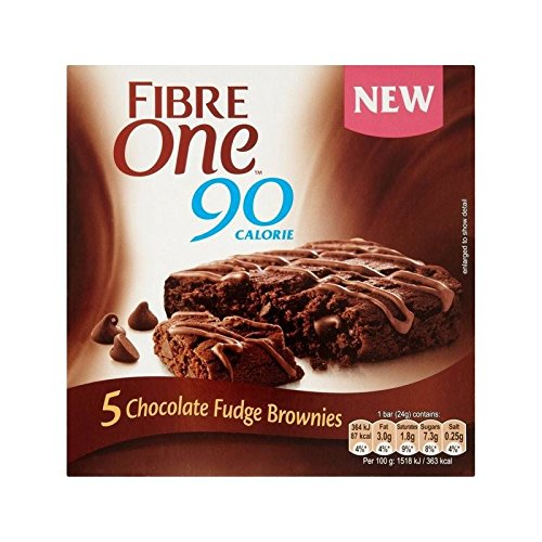 Faser Ein Chocolate Fudge Brownie 120G - Packung mit 2
