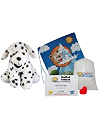 "Make Your Own Stuffed Animal ""Domino The Dalmation"" -No Sew-Kit With Cute Backpack!"