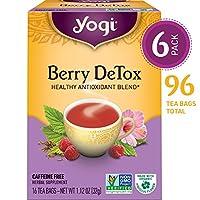 Yogi Tea, Berry DeTox, 16 Count (Pack of 6), Packaging May Vary