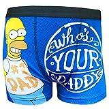 The Simpsons 'Qui est votre papa?' Les troncs de boxeur des hommes de taille small