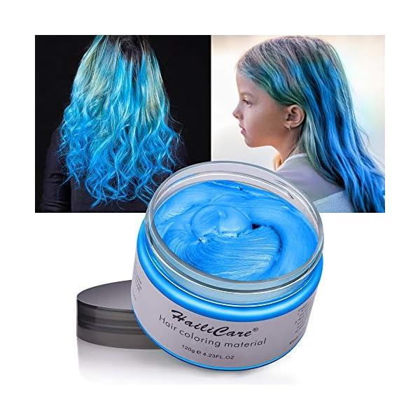 Cera Cabello, MOFAJANG Crema Colorante Pelo Temporal para DIY Colorear y Modelar el Cabello de Moda para Hombres y…