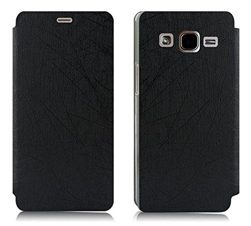 Chevron Storm Series Leather Flip Cover Stand Case for Samsung On7 Pro / Samsung Galaxy On7 (Black)