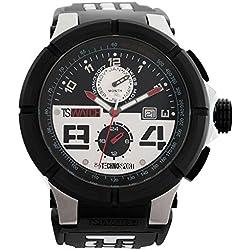TechnoSport Herren Chrono Uhr - Schwarz / Weiß
