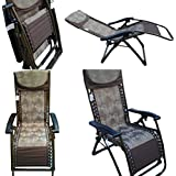 Amaze Folding Zero Gravity Recliner Push Back Portable Outdoor Lounger Chair - 09 C