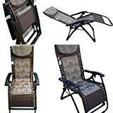 'Amaze (with Side Tray and Drink Holder) Folding Zero Gravity Recliner Push Back