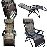 Amaze Folding Zero Gravity Recliner Push Back Portable Outdoor Lounger Chair - 09