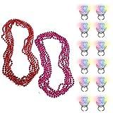 Collar de Cuentas de Mardi Gras (22 Piezas) - 39cm(15.35') 5 Rojo, 5...