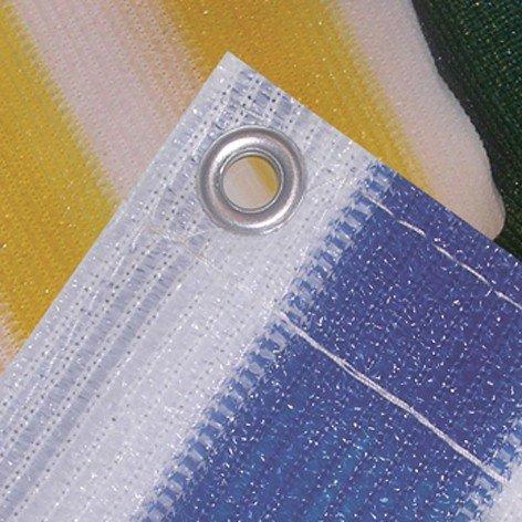 TONE CASUALTIES TNC 903802 balcon 500 x 90 cm Lavable en machine avec œillets en laiton Bleu/Blanc
