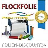 (EUR 25,80 / Quadratmeter) FLOCKFOLIE WEISS 501 - 001 BÜGELFOLIE TOP ! Preistip Flex Flock 1 M x 50 cm