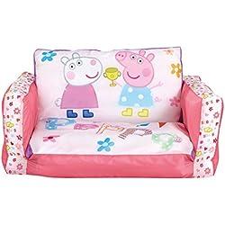 Peppa Pig 286PIP - Sofá desplegable hinchable, dos en uno, color rosa