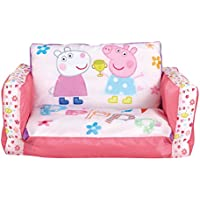 Peppa Pig 286PIP - Sofá desplegable hinchable, dos en uno, color rosa