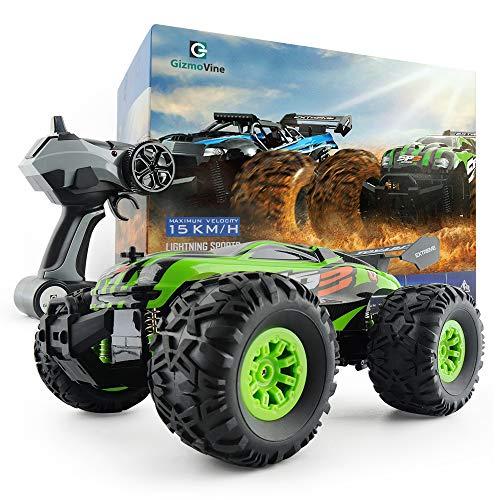 GizmoVine Auto Telecomandate 1/18 Monster Truck Oversize Pneumatici 2.4Ghz Auto radiocomandata per Bambini (Verde)
