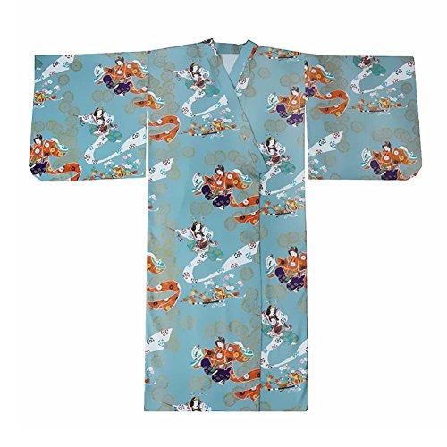 Fancy Pumpkin Accappatoio Costume da Donna Kimono Stile Giapponese con Cintura Donne Vintage