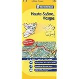 Michelin Map France: Haute-sane, Vosges 314