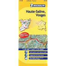 Michelin Map France: Haute-sane, Vosges 314
