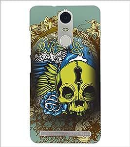 PrintDhaba skull D-4626 Back Case Cover for LENOVO K5 NOTE (Multi-Coloured)