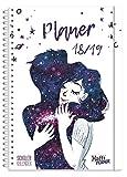 haefft Planer Premium A52018/2019[One WITH THE UNIVERSE] Rilegatura a Spirale con protezione deckblaettern, compiti Quaderno/studenti Calendario/diario/Agenda scolastico di studenti