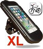 WESTIC FTWD-18XL wasserdichte Lenkertasche mit Kabelfürung für Fahrrad Motorrad Handyhalterung Ramentasche (bis 5,7