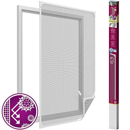 easy life Pollenschutz Gitter ALLERGICpro Basic mit PVC Magnetrahmen Pollenschutzgitter / Insektenschutz für Fenster ohne Bohren, Größe:100 x 120 c...