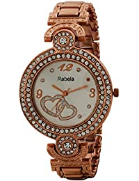 Rabela ® Women's Analogue Silver Dial Watch RAB-856