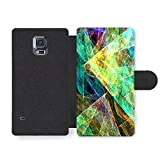 Micro Gorilla Cool and Colourful Psychedelic Hipster Disco Shapes Faux Cuir pour Samsung Galaxy S5