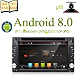 2G RAM Android 8.0 WiFi Model Quad-Core Double din Car DVD Player Stereo