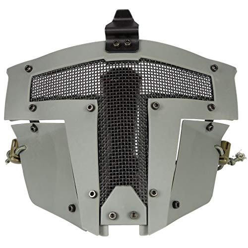 Kakiyi Full Face Metall Stahl Netz-Ineinander greifen-Masken-Jagd-CS Spiel-Halloween-Party Cosplay volles Radfahren Gesichtsmaske