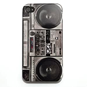 WIPODS® - Boombox iPhone 4 Case - Retro Radio Cassette Tape Player Hard iPhone Case 4s iPhone Cover 4 Hard Case Back Cover 4S 4G 4th