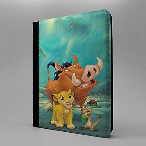 Little Mermaid & Lion King Tablet Flip Schutzhülle für Apple iPad Pro 24,6cm Abenteuer–Pumbaa Simba Timon–s-t1137