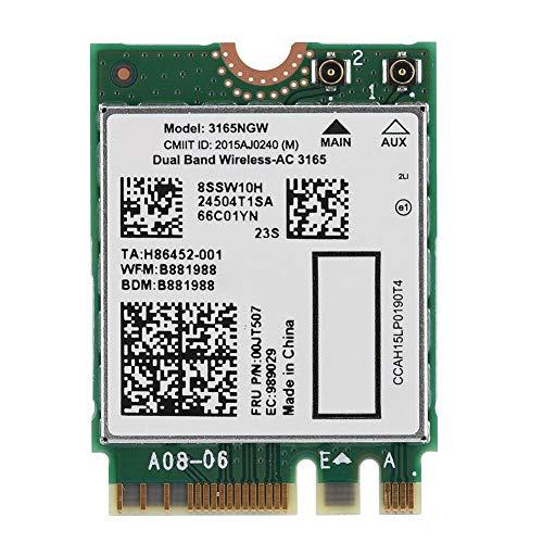 Pokerty AC Wireless-Netzwerkkarte, für Lenovo Intel3165 Dualband Wireless-AC 3165NGW NGFF / M2 433M + Bluetooth4.2 802.11AC-Karte