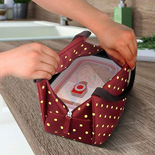 Philorn Reusable Insulated Lunch Bag, Wine Red