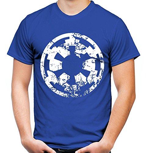 er und Herren T-Shirt | Star Wars Yoda Vintage Darth Vader Imperium Kult (XL, Blau) (Fett Outfit Ideen)