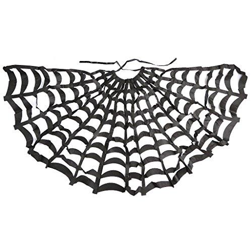 (Gazechimp Spinnennetz Cape Hexen Kostüm für Teufel Gothic Vampir Umhang Halloween)
