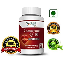 Vokin Biotech 100% Natural Coenzyme Q-10 Extract 250MG For Heart Health and Energy Metabolism 60 Capsules