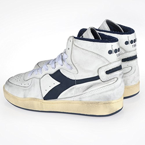 Diadora Heritage Herren High Sneaker Mi Basket Used 158569 White/Corsair (C1494)