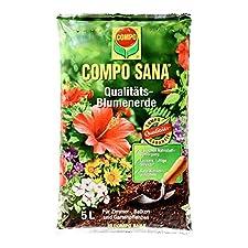 Qualitäts-Blumenerde 5 l von COMPO SANA® mit der Artikelnummer: 11121 aus der Kategorie: Blumenerden von COMPO und der EAN: 4008398111212