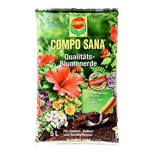 COMPO SANA Qualitäts Blumenerde mit 8