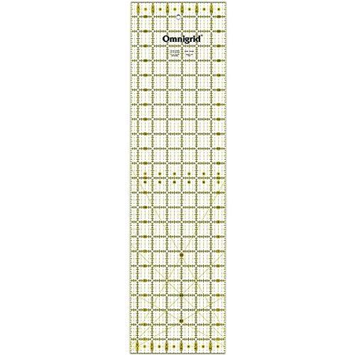 Prym Maßstab/Lineal, mit Zoll-Skala, 16,5 x 61 cm