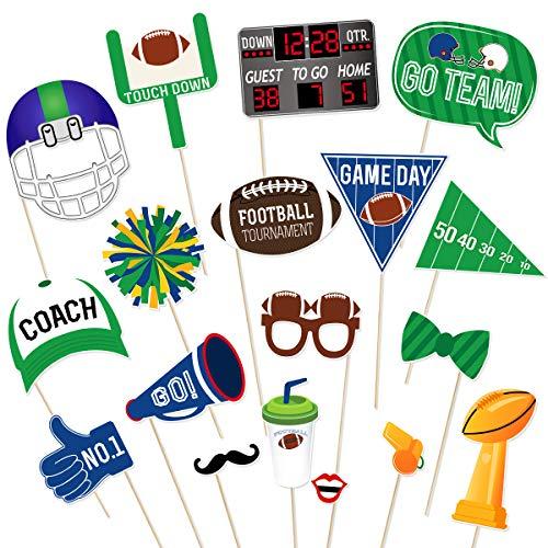 Tinksky Super Bowl Photo Booth Zubehör Fußball Sport Kreative Party Dekoration Super Bowl Sonntag Liefert 18 Stücke