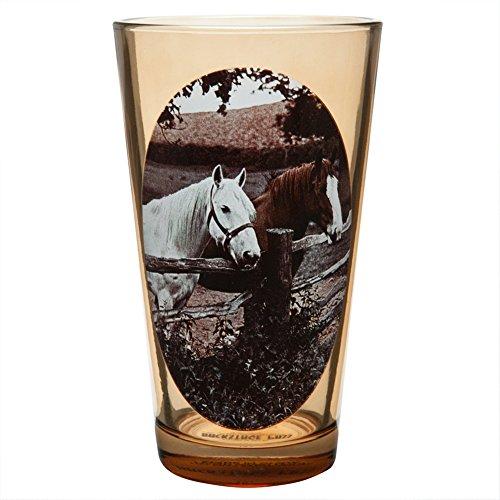 Deux Chevaux Portrait Verre à bière