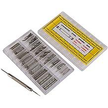 WINOMO 360pcs 6 millimetri - 23 millimetri cinturino dell'acciaio inossidabile di collegamento Pins Bar Primavera (Facile Primavera)