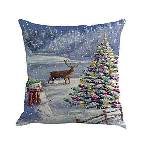 Fittingran federa casa, natale pupazzi di neve gettare federe decor divano decor square cuscino coprire 18