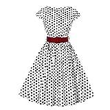 Abito Plissettato Swing a Pieghe in Vita da Donna Vintage DOT Dress(S)