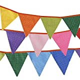 NUOLUX Ammer Banner Polka punktiert Dreieck Flags für Dekoration 10ST