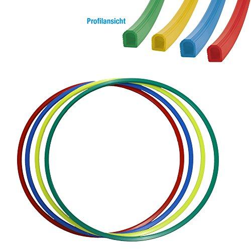 Gymnastikreifen Hula-Hoop Reifen 80 cm Durchmesser Farbe: rot