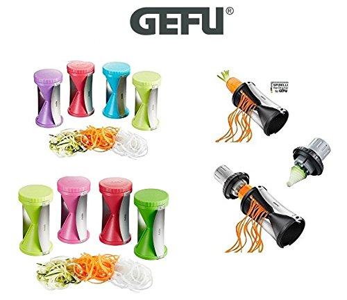 Gefu Spirelli Spiralschneider - verschiedene Farben (rosa+Beutel)