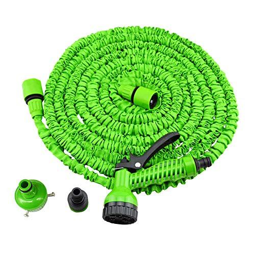 ZYYBRE Flexischlauch BewäSserung Stretch Schlauch Mit15m Mit 7 Spray-Funktionen AutowäSche Und Waschen