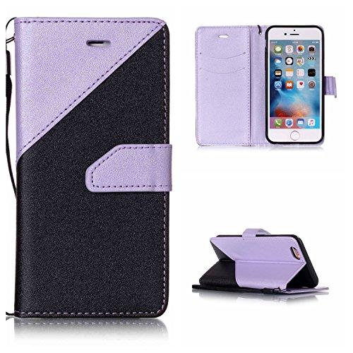 Voguecase Pour Apple iPhone 6/6s 4,7 Coque, Étui en cuir synthétique chic avec fonction support pratique pour iPhone 6/6s 4,7 (couleurs mélangées IV-Violet clair)de Gratuit stylet l'écran aléatoire un couleurs mélangées IV-Violet clair